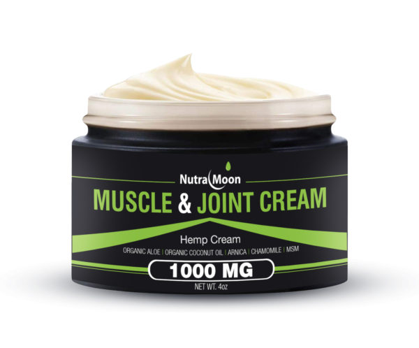 Organic Hemp Muscle & Joint Cream 1000 MG Made In The USA 8 Oz (2 Packs)